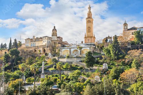 Naklejka premium Pomnik Najświętszego Serca Jezusowego w Sewilli