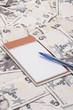 A notebook on Turkish lira banknotes