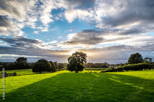 Sunset - Bollington, Cheshire Fotobehang