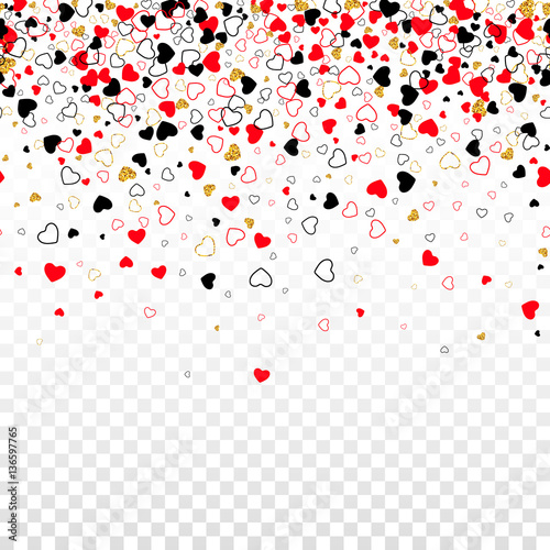 Vector seamless border with golden glitter line color confetti vector seamless border with golden glitter line color confetti heart isolated on transparent background stopboris Choice Image