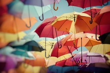 Background Colorful Umbrella S...