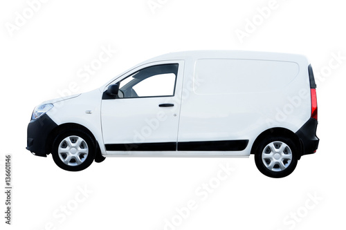 Fotomural White Van Side View under a white background