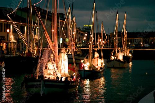 Foto auf AluDibond Port porto canale museo della marineria cattolica peresepe addobbi natalizi forli cesena emilia romagna