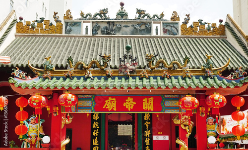 Kuan Ti Temple, built in 1888, is a Taoist shrine that's dedicated to Guan Di, t Canvas Print