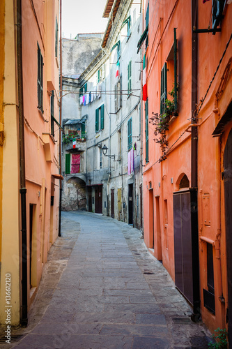 Poster Stockholm beautiful ancient streets of the Italian city