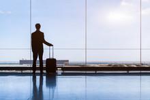 Traveler Businessman In Airpor...