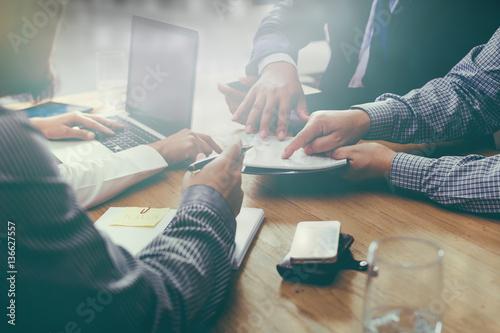 business plan brainstorming meeting team Meeting concept. Canvas-taulu