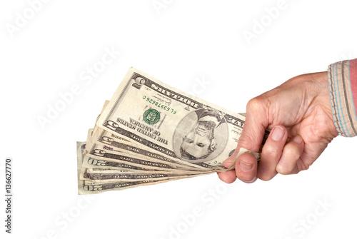 Fotografía  Handing over cash