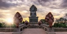 Buddha With A Naga Over His Head,Prakonchai Buriram Thailand