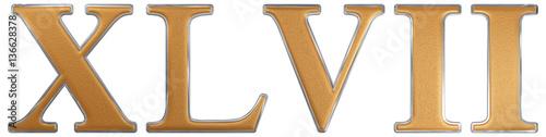 Fotomural  Roman numeral XLVII, septem et quadraginta, 47, forty seven, iso