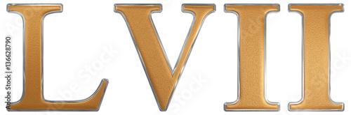 Fotografie, Obraz  Roman numeral LVII, septem et quinquaginta, 57, fifty seven, iso