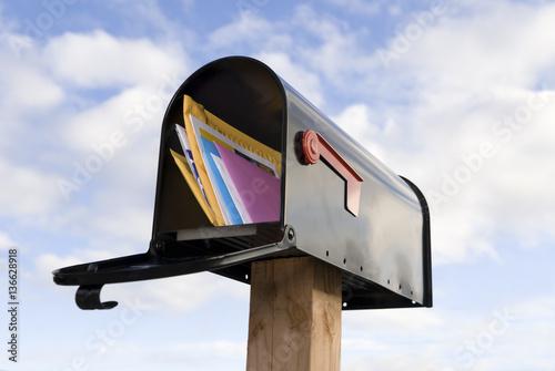Fotografie, Obraz  Mailbox and mail