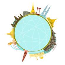 ASEAN Landmark Buildings Circle Web