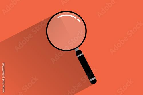 Plakat  ícono de búsqueda forma de lupa estilo flat design