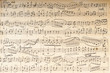 Leinwanddruck Bild - Ancient musical manuscript