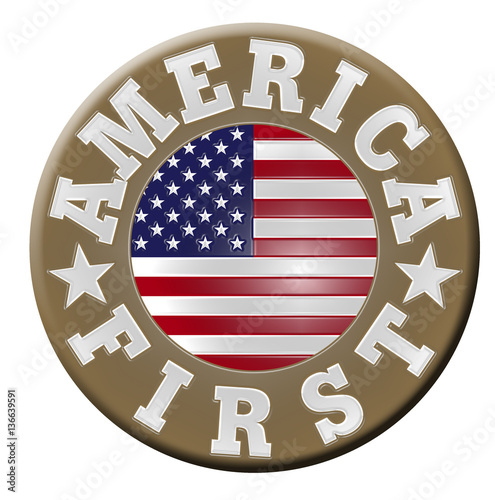 Photo  America First Button