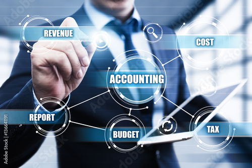 Accounting Analysis Business Financing Banking Report concept Canvas Print