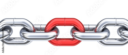 Chain and unique red link