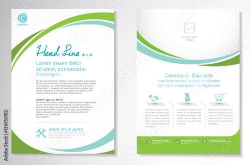 Vector Brochure Flyer design Layout template, size A4, Curve