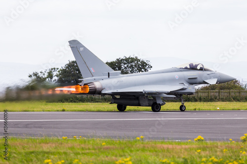 fototapeta na drzwi i meble Royal Air Force Typhoon performance take off