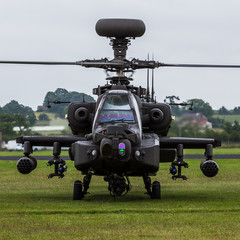 Fototapeta Militaria Letterbox crop of the Apache moments before takeoff