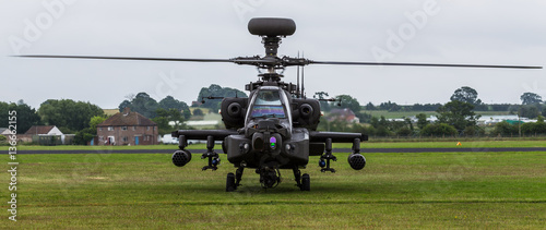 Letterbox crop of the Apache moments before takeoff Canvas Print