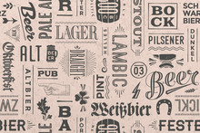 Seamless Pattern With Types Of...