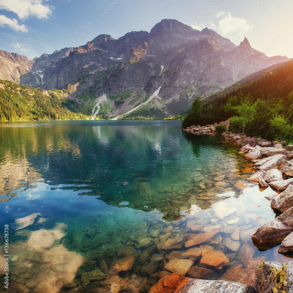 Fototapety, obrazy: Lake high in the Tatras Sea Eye. Poland