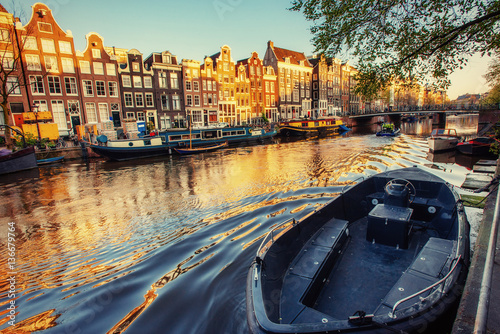 Photo Beauty Amsterdam. Channel one of the streets where the two sides