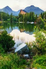 FototapetaMajestic mountain lake in National Park High Tatra