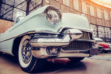 Classic Car. Beautiful Retro Style Transport Exhibition.