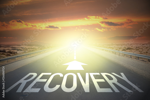 Road concept - recovery Fotobehang