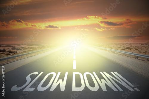 Fototapeta Road concept - slow down obraz