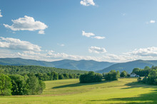 Vermont Hay Field And Valley