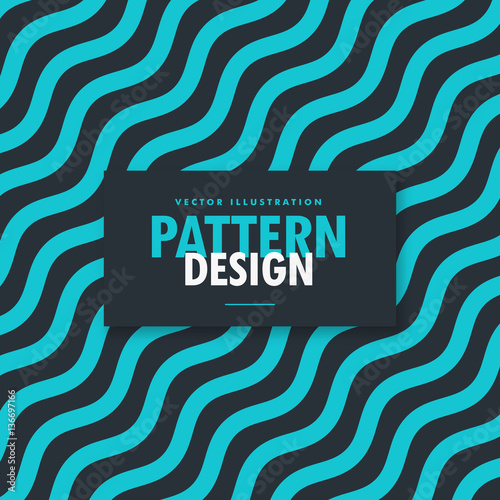Photo  abstract blue and black wavy lines background
