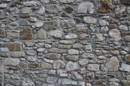 Stickers pour porte Cailloux texture di un muro di cemento