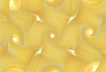 Abstract Golden Background With Spirals. Gnarl