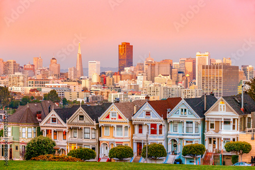 Canvas Prints San Francisco The Painted Ladies of San Francisco, California