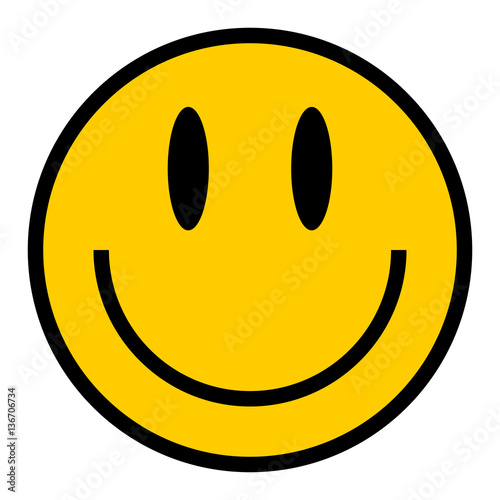 Obraz na plátně Smiley Icon Smiling Face Flat Style