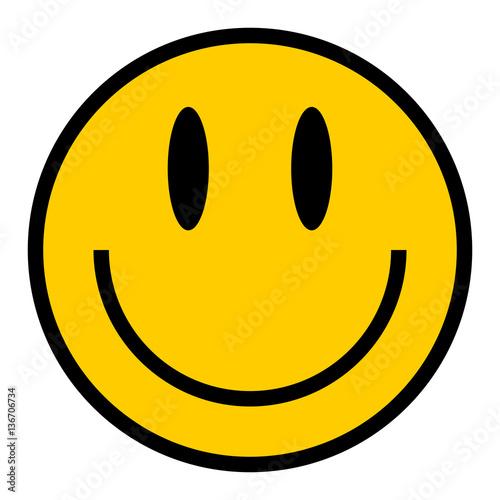 Obraz na plátně  Smiley Icon Smiling Face Flat Style