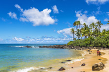 Laniakea Beach (Turtle Beach) On The North Shore, Oahu, Hawaii