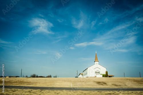 Carta da parati Small chapel in rural America