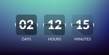 Flip Countdown Timer Vector Cl...