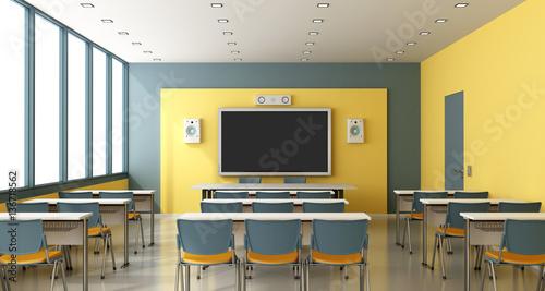 Fotografía  Contemporary empty classroom