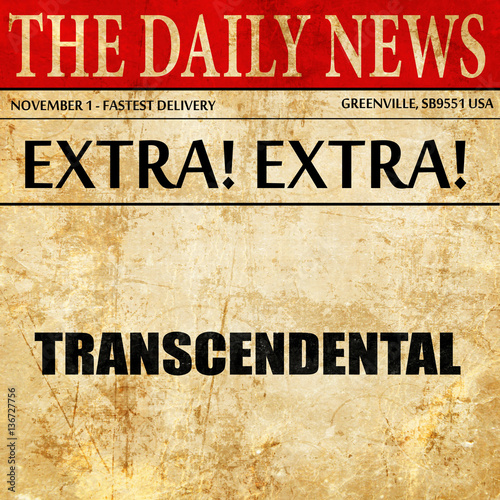 Photo  transcendental, article text in newspaper