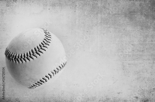 Photo  Black and white grunge baseball background.