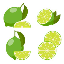 Icon Set Lime, Vector.
