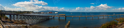 Poster Cote Panorama of the Pier at Bellingham, Washinton