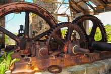 Caribbean, The Island Of Nevis, Sugar Mill Ruins