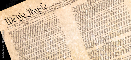 Carta da parati Preamble of the Constitution of the United States